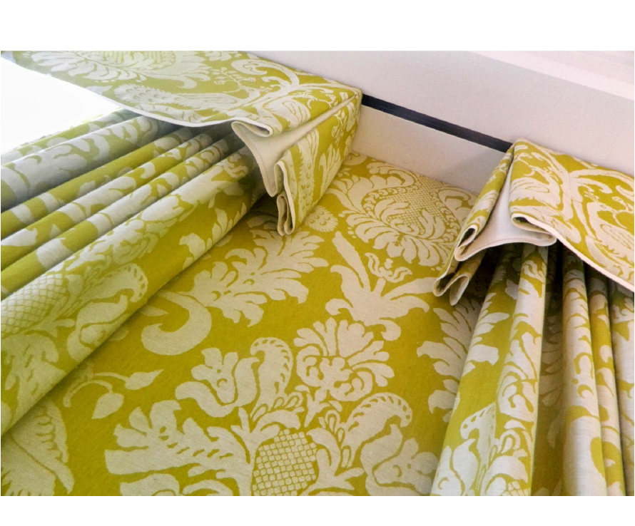 Chandler and Peacock upholstery curtains blinds Kensington